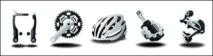 Professional mountain bike parts icon png